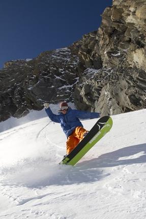 Afbeelding van een snowboarder
